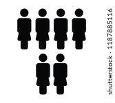 hr icon vector female group of... | Shutterstock .eps vector #1187885116