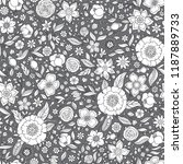 seamless vector floral pattern  ... | Shutterstock .eps vector #1187889733