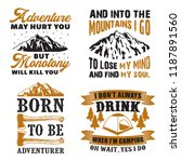 adventure quote and saying set | Shutterstock .eps vector #1187891560
