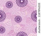 pink hidden flower seamless... | Shutterstock .eps vector #1187896333