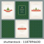 merry christmas greeting cards... | Shutterstock .eps vector #1187896630