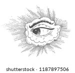 all seeing eye  vision of... | Shutterstock .eps vector #1187897506