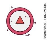 arrow icon design vector | Shutterstock .eps vector #1187898136