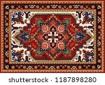 persian carpet  tribal vector... | Shutterstock .eps vector #1187898280