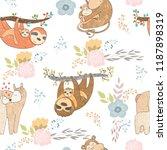 seamless pattern. vector... | Shutterstock .eps vector #1187898319