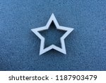 white hollow star on a grey... | Shutterstock . vector #1187903479
