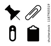 pin icons set with paperclip...   Shutterstock .eps vector #1187905519