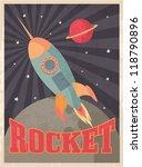 vintage rocket vector...   Shutterstock .eps vector #118790896