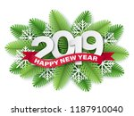 2019 paper cut style numbers ... | Shutterstock .eps vector #1187910040