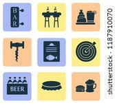 alcohol icons set with liquor ... | Shutterstock .eps vector #1187910070