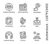 market and economy line icons... | Shutterstock .eps vector #1187913403
