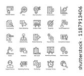 market and economic line icons ... | Shutterstock .eps vector #1187913406