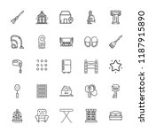 collection of 25 home outline... | Shutterstock .eps vector #1187915890