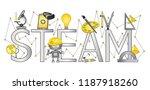steam education banner | Shutterstock .eps vector #1187918260