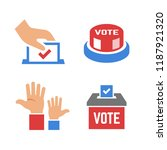 vector vote color icon with... | Shutterstock .eps vector #1187921320