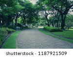 daytime park with green trees... | Shutterstock . vector #1187921509