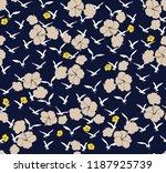 seamless flowers with birds... | Shutterstock .eps vector #1187925739
