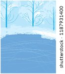 winter ice rink in the park.... | Shutterstock .eps vector #1187931400