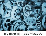 gears and cogs macro in vintage ... | Shutterstock . vector #1187932390