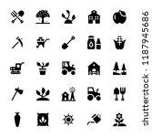 farming glyph vector icons  | Shutterstock .eps vector #1187945686