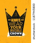 always wear your invisible... | Shutterstock .eps vector #1187945800