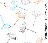 colorful dandelions flying... | Shutterstock .eps vector #1187947726