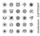 firework icons set   | Shutterstock .eps vector #1187951869