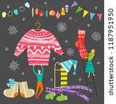 group of little people... | Shutterstock .eps vector #1187951950