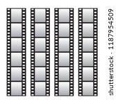 slide film frame set  film roll  | Shutterstock .eps vector #1187954509