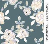 seamless floral pattern.... | Shutterstock .eps vector #1187960293