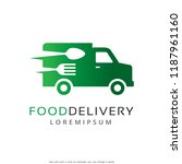 food delivery logo template...   Shutterstock .eps vector #1187961160