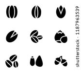 healthy food glyph icons set   | Shutterstock .eps vector #1187963539