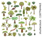 collection of tropical trees ... | Shutterstock .eps vector #1187964463