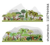 vector jungle trees collection  ... | Shutterstock .eps vector #1187964466