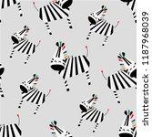 pattern of cute kid vector... | Shutterstock .eps vector #1187968039