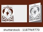laser cut template of wedding... | Shutterstock .eps vector #1187969770