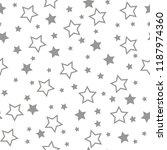 seamless texture of a stars.... | Shutterstock .eps vector #1187974360
