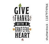 thanksgiving day. logo  text... | Shutterstock .eps vector #1187974966