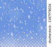 christmas snowfall transparent... | Shutterstock .eps vector #1187978026