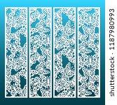 laser cut decorative lace... | Shutterstock .eps vector #1187980993
