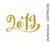 happy new 2019 year. vector... | Shutterstock .eps vector #1187981236