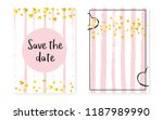 bridal shower set with dots and ... | Shutterstock .eps vector #1187989990