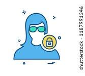 female avatar icon design vector | Shutterstock .eps vector #1187991346