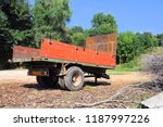 old red trailer for... | Shutterstock . vector #1187997226