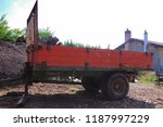 old red trailer for... | Shutterstock . vector #1187997229