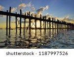 u bein bridge  burma | Shutterstock . vector #1187997526