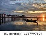 u bein bridge  burma | Shutterstock . vector #1187997529