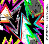 bright geometric seamless... | Shutterstock .eps vector #1187998033