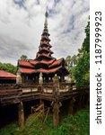 monastery at mandalay  burma | Shutterstock . vector #1187999923