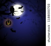 halloween night spooky... | Shutterstock .eps vector #1188000703